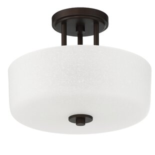 Bristol 3-Light Semi-Flush Mount by Ebern Designs