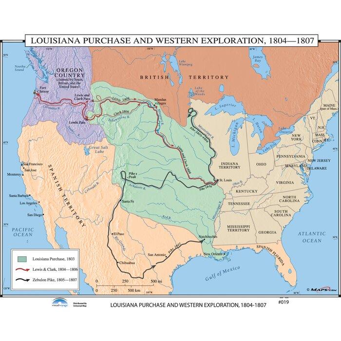 Universal Map U.S. History Wall Maps - Louisiana Purchase / Western ...
