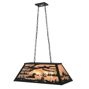Edmonton Leaping Trout and Loon 6-Light Pool Table Lights Pendant by Loon Peak