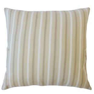 Camela Striped Down Filled 100% Cotton Lumbar Pillow