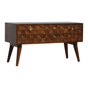 Angie Wood Storage Bench By World Menagerie