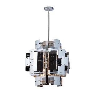 Rivas 8-Light Geometric Chandelier by Everly Quinn