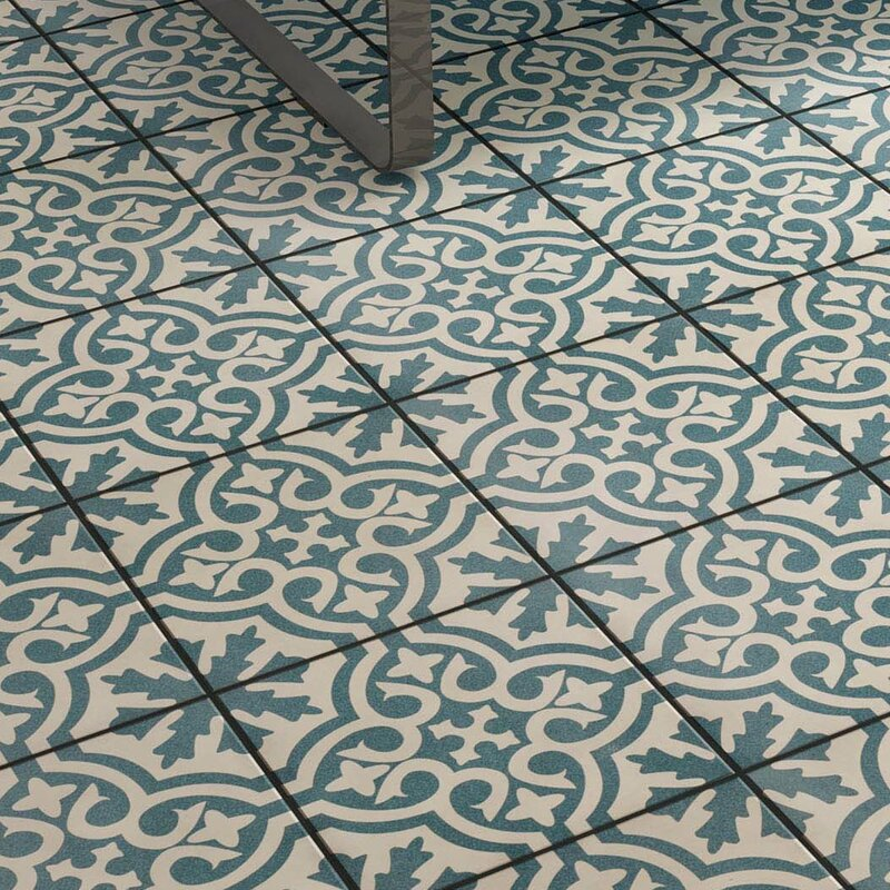 Alameda 17 63 Quot X 17 63 Quot Ceramic Field Tile In Blue White