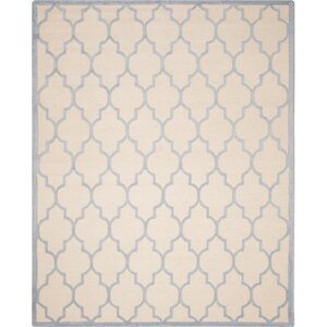 Charlenne Ivory/Light Blue Area Rug