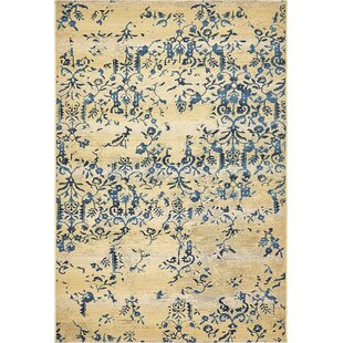 Eris Floral and Plants Beige Indoor/Outdoor Area Rug