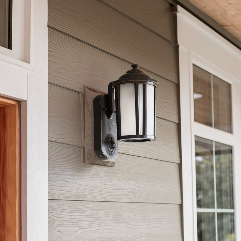 Maximus Smart Security with Camera 1-Light Outdoor Wall Lantern & Reviews Wayfair.ca