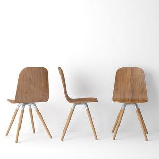 Brayden Studio Ambrosine Solid Wood Dining Chair (Set of 2)