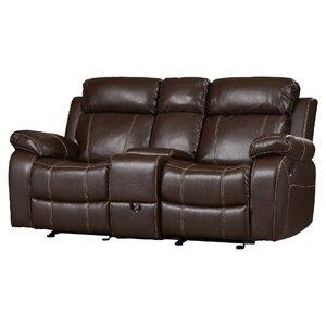 Chestnut Double Gliding Reclining Sofa