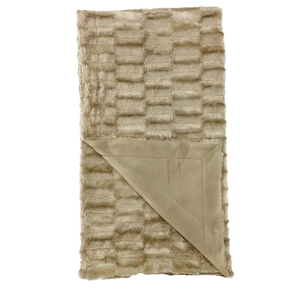 Millwood Pines Jana Textured Faux Fur Throw Reviews Wayfair