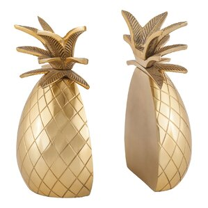Glam Pineapple Bookends (Set Of 2)