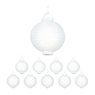10 White/Yellow Lanterns By The Seasonal Aisle