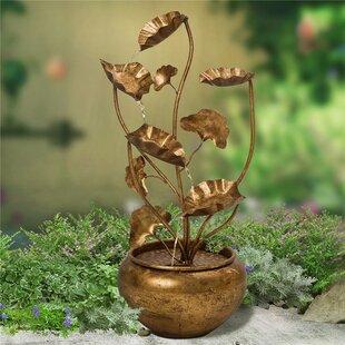 Glitzhome Metal Lotus Fountain