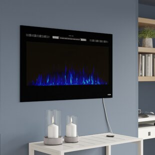 Slagle Wall Mounted Electric Fireplace by Orren Ellis