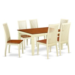 Belcourt 7 Piece Solid Wood Dining Set DarHome Co