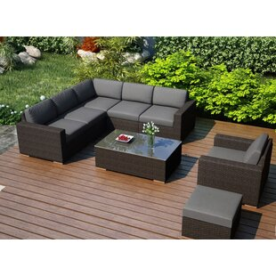 Hodge 8 Piece Sunbrella Sectional Set with Cushions