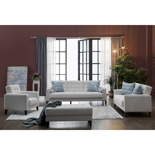 Affordable Price Milton 3 Piece Living Room Set by Decor+ Reviews (2019) & Buyer's Guide