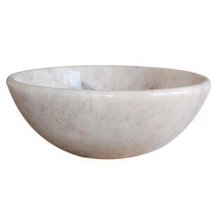 Low priced Classic Stone Circular Vessel Bathroom Sink By TashMart