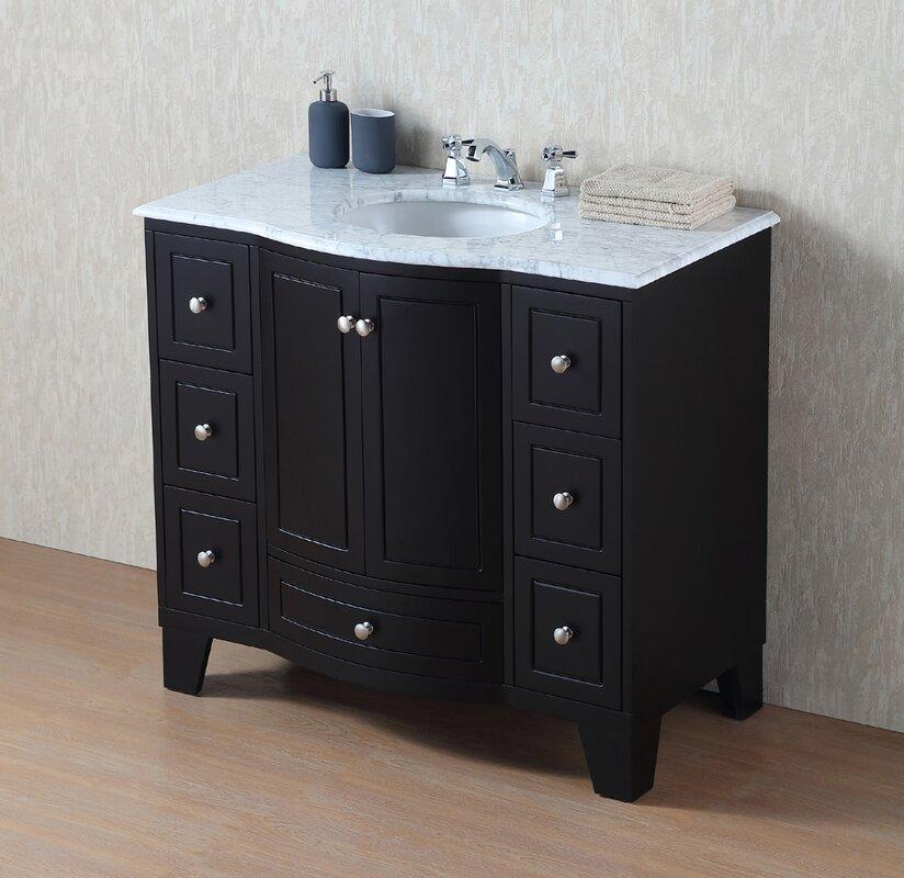 Annabelle 40 Inch Modern Bathroom Vanity Espresso Finish 40 bathroom vanity cabinet abella 40 inch modern white finish
