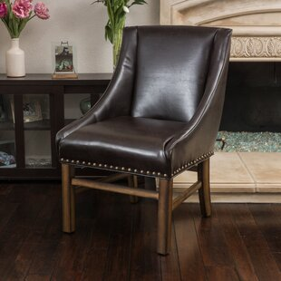 Busch Side Chair in Leather - Brown