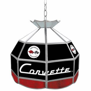 Trademark Global Corvette C1 Stained Glass Round Tiffany Lamp