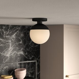 Yearby 1-Light Semi Flush Mount by Mercury Row