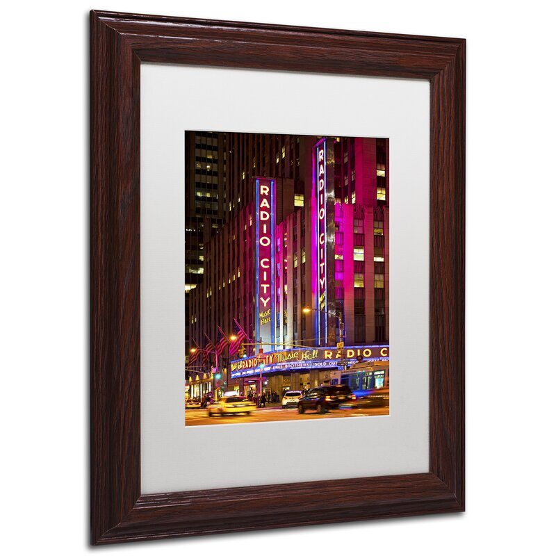 Trademark Art Night Walk In Manhattan By Philippe Hugonnard Framed Photographic Print On Canvas Wayfair