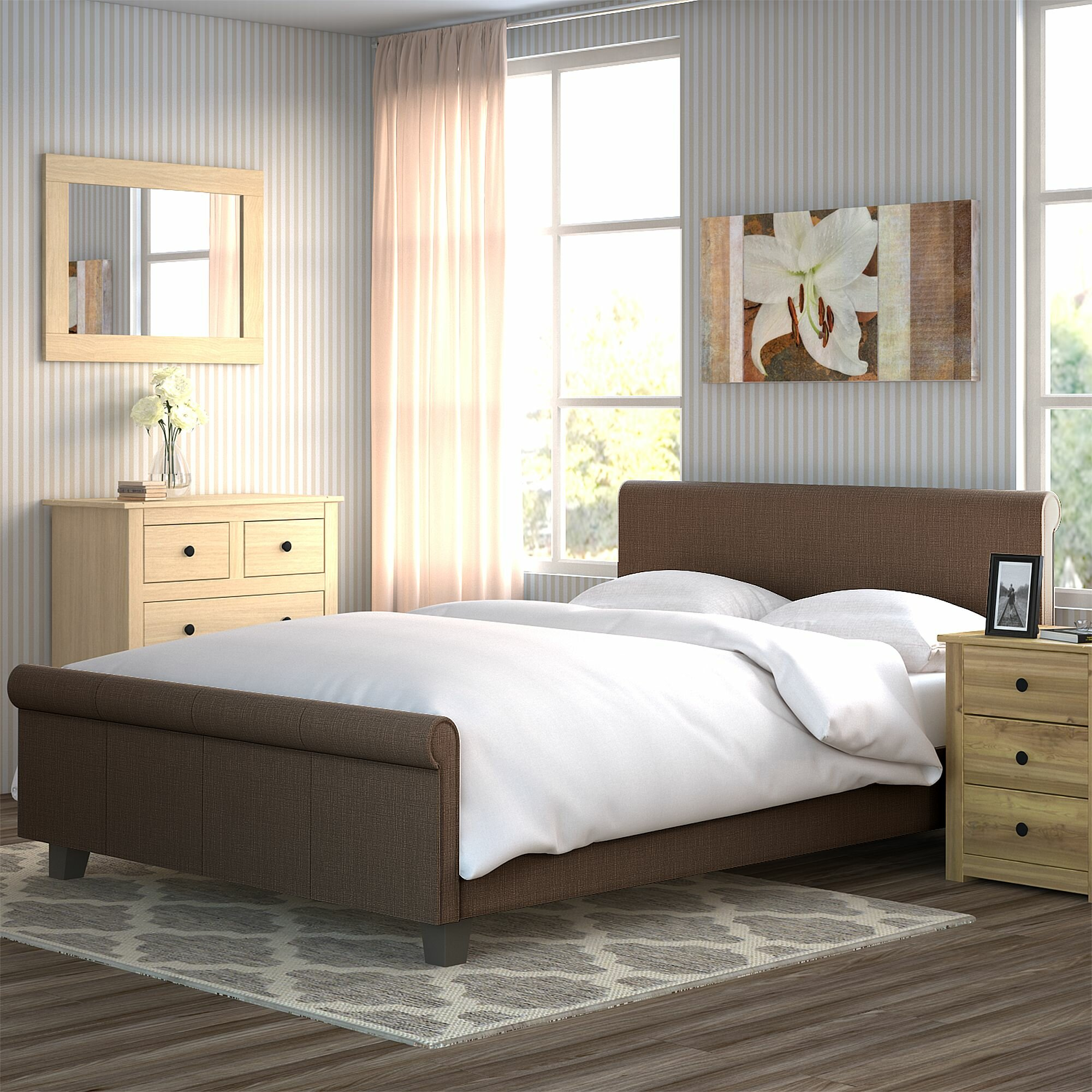 home sleigh furniture bed darby harrison co upholstered wayfair pdx