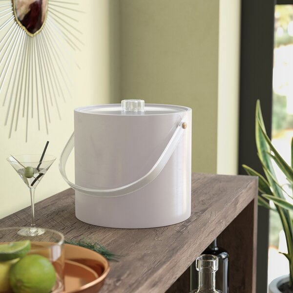 OXO Good Grips Double Wall Ice Bucket with Tongs and Garnish Tray Square Party