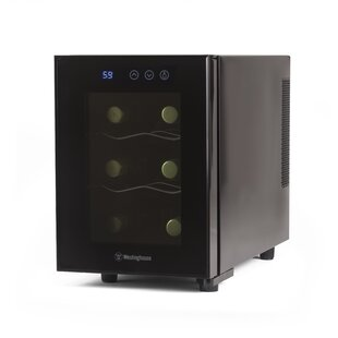 Westinghouse 6 Bottle Thermal Electric Single Zone Freestanding Wine Cooler