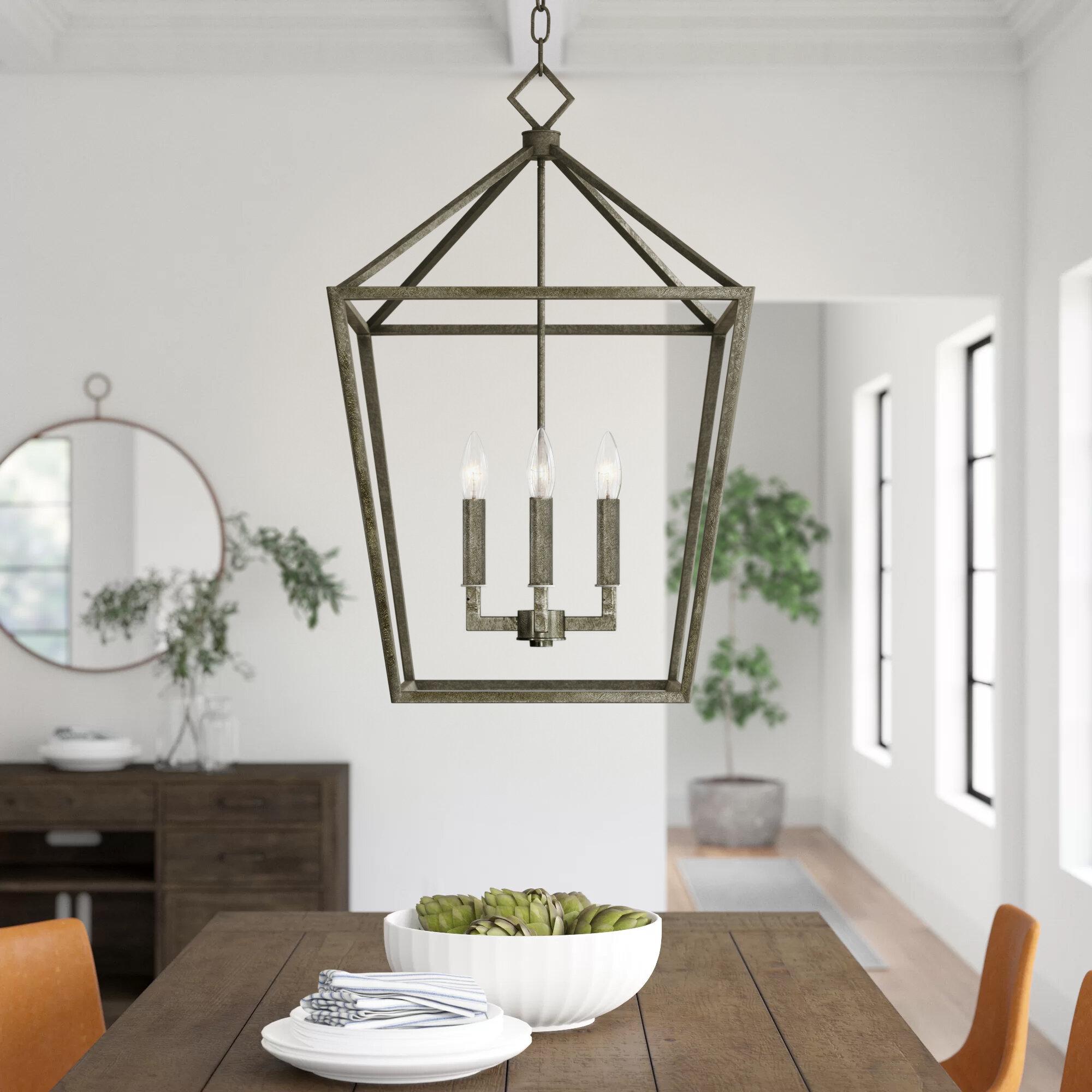 Three Posts Varnum 4 Light Lantern Geometric Pendant Reviews Wayfair