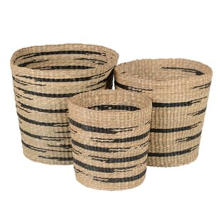 Wicker 3 Piece Basket Set By Bay Isle Home
