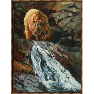'Above the Falls' Framed Acrylic Painting Print on Canvas By Millwood Pines