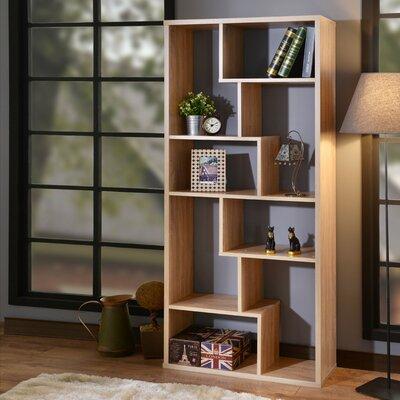 Saltzman Geometric Bookcase Ebern Designs Finish: Weathered Oak