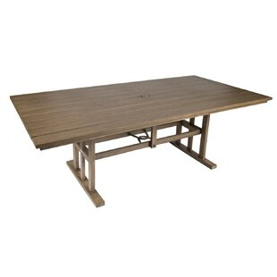 Augusta Woodlands Rectangular Umbrella Dining Table by Woodard Fresh