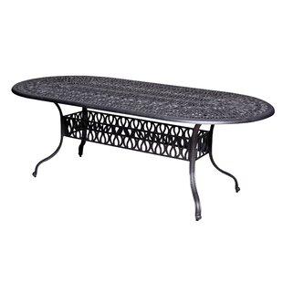 Thurston Metal Dining Table by Fleur De Lis Living