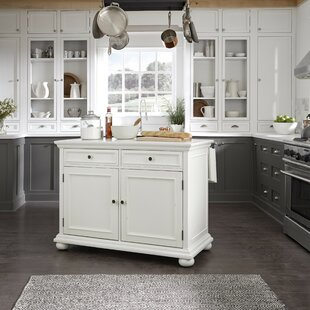 Rochford Kitchen Island With Granite Top by Three Posts Amazing