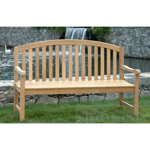 Teak Jayden Garden Bench by Gracie Oaks Bargain