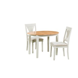 Shippy 3 Piece Extendable Solid Wood Dining Set August Grove