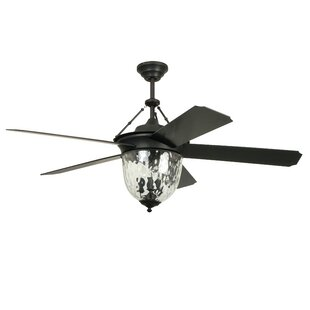 Look for 52 Fairmead 5-Blade Ceiling Fan with Wall Remote By Longshore Tides
