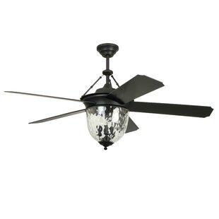 Farmhouse rustic ceiling fans birch lane 52 fairmead 5 blade ceiling fan with wall remote aloadofball Choice Image