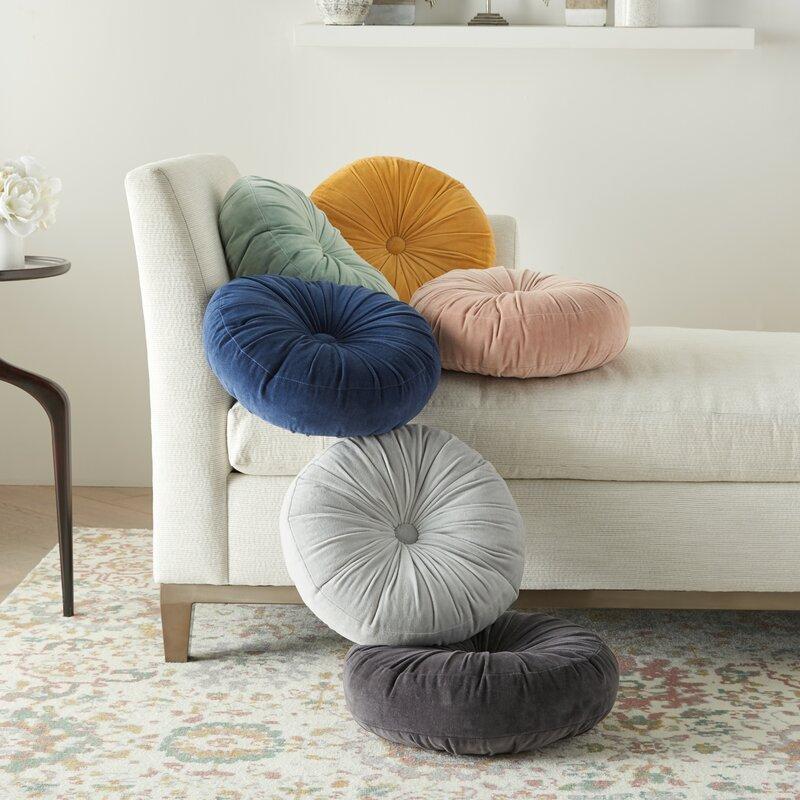 Allmodern Gaelle Cotton Round Throw Pillow Reviews Wayfair