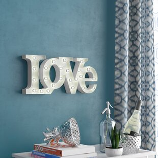 Barkman Love LED Marquee Sign by Wrought Studio