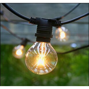Scarsdale Vintage Commercial Patio String Lights With 25 Edison Light Bulbs