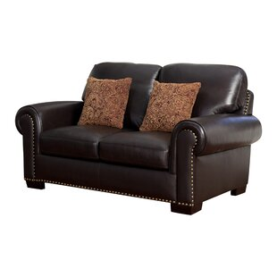 Alvis Leather Loveseat by Canora Grey 2019 Sale