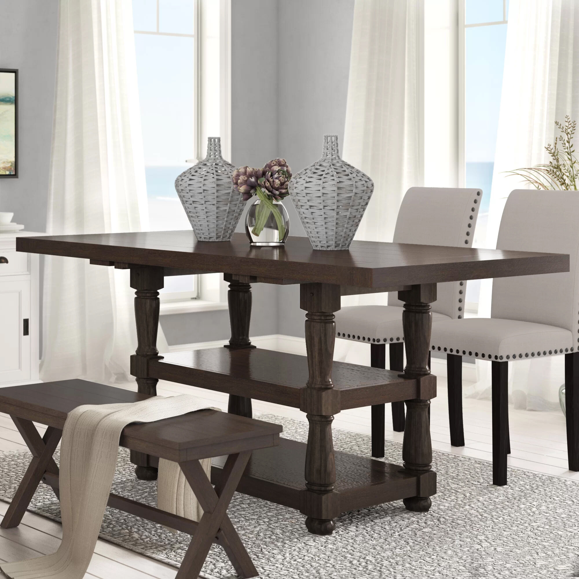 Picture of: Laurel Foundry Modern Farmhouse Fortunat Counter Height Extendable Butterfly Leaf Dining Table Reviews Wayfair