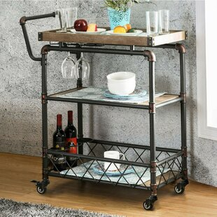 Serina Industrial Bar Cart
