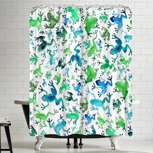 Elena Oneill Tree Frogs Single Shower Curtain