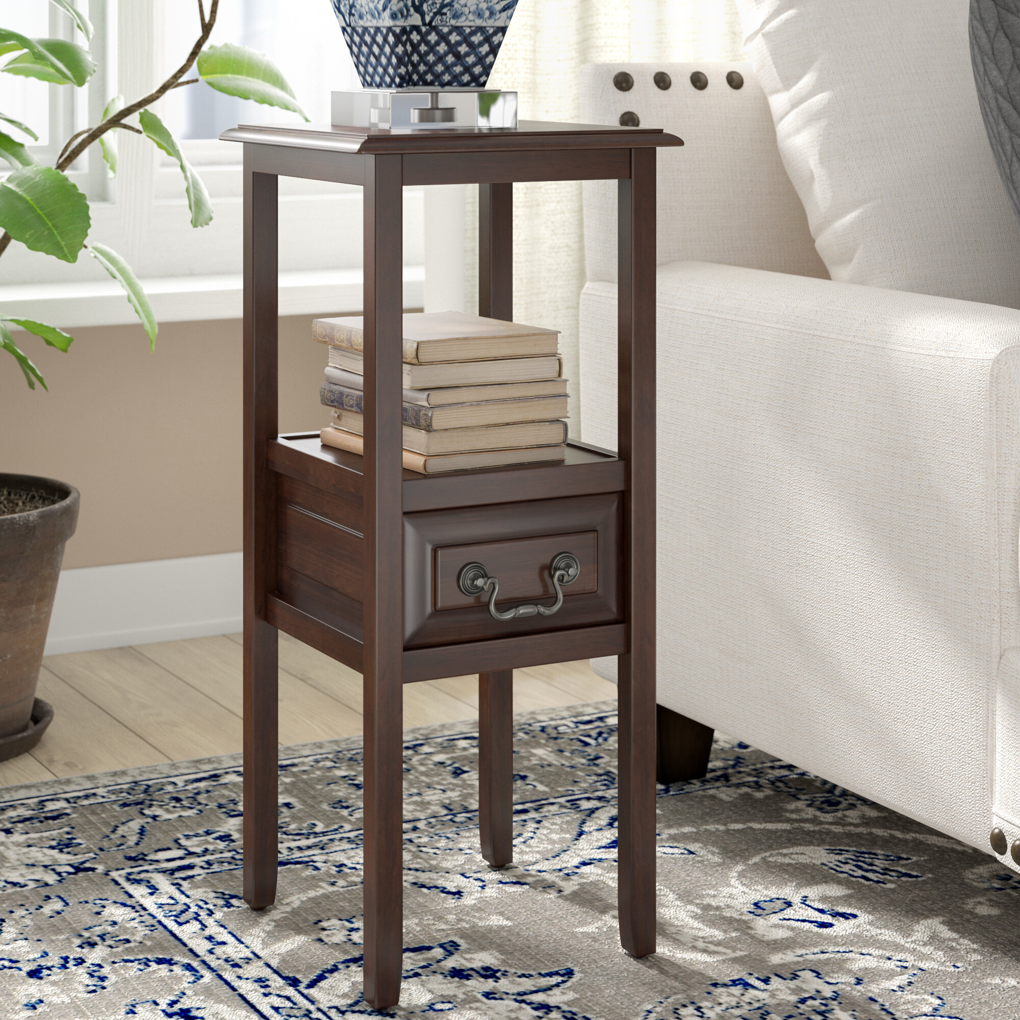Darby Home Co Gilson End Table With Storage & Reviews | Wayfair on home casual patio furniture cushions, home goods patio furniture, home trends patio furniture parts, home casual replacement slings,