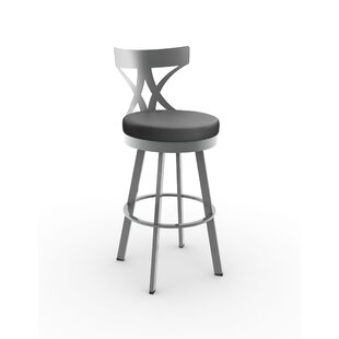 Leechburg 26 Swivel Bar Stool Wade Logan