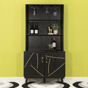 Wall 2 Door Accent Bar With Wine Storage